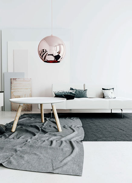 3D ontwerpen van een design woonkamer