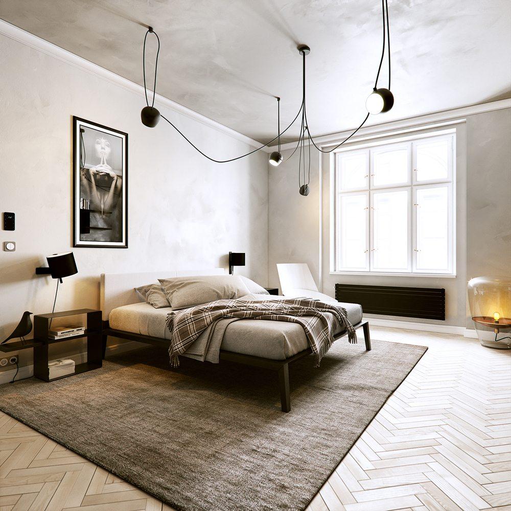 3d ontwerpen van een modern klassiek appartement for Inrichting huis ontwerpen