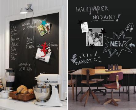 Schoolbordverf De Keuken : Schoolbordverf aan de muur inrichting huis
