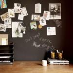 Schoolbordverf aan de muur