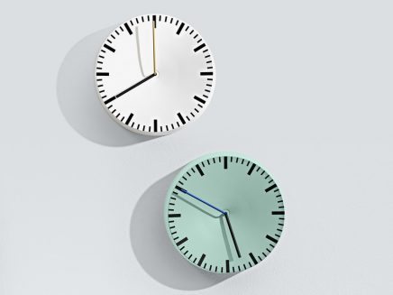 Nya Interieurontwerp Analog Wall Clock White and Mint Hay