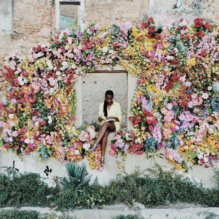 Nya Interieurontwerp bloemenwand perpetual-grace