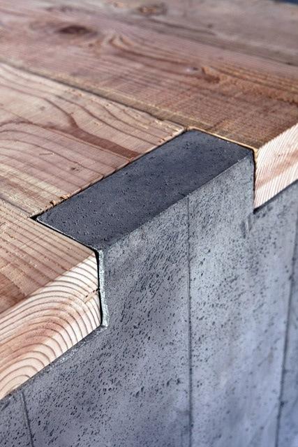 Nya Interieuronwerp eetkamertafel betondetail takeovertime.co