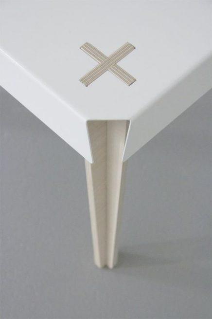 Nya Interieuronwerp eetkamertafel detail kruis thedesignwalker.tumblr.com