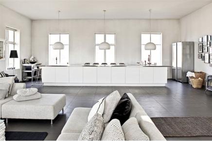 Mooie witte open keuken | Inrichting-huis.com