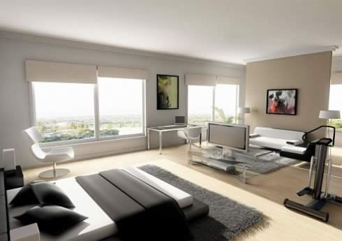 Zwarte slaapkamer van het maison champs elysées hotel inrichting