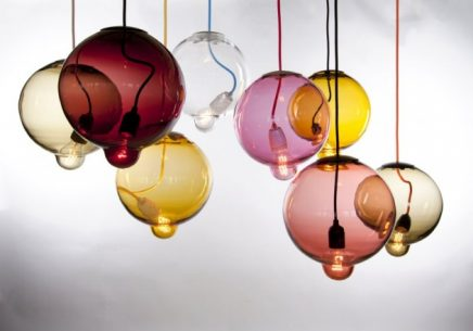 lampen gekleurd glas