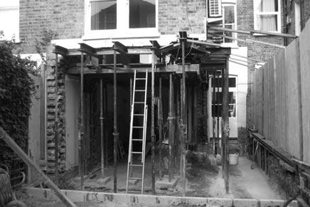 Aanbouw woonkeuken