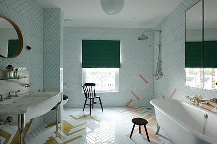 Antieke vintage moderne badkamer inrichting huis