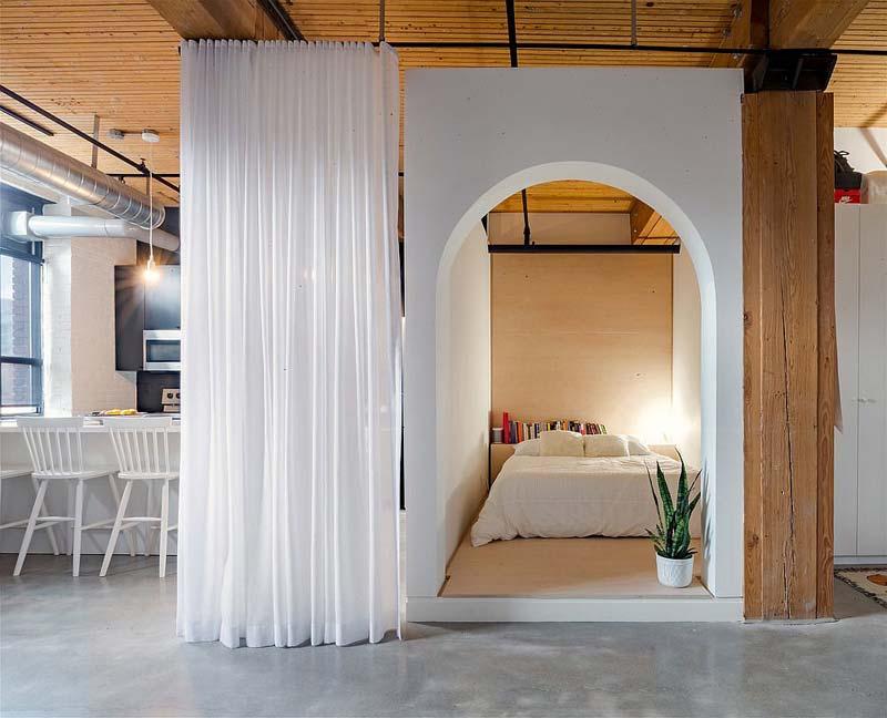 aparte slaapkamer loft appartement