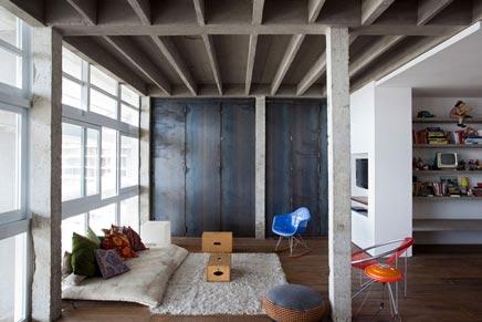 Van appartement tot industriele loft inrichting for Living room zwolle
