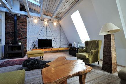 Authentieke woonkamer met nieuw design