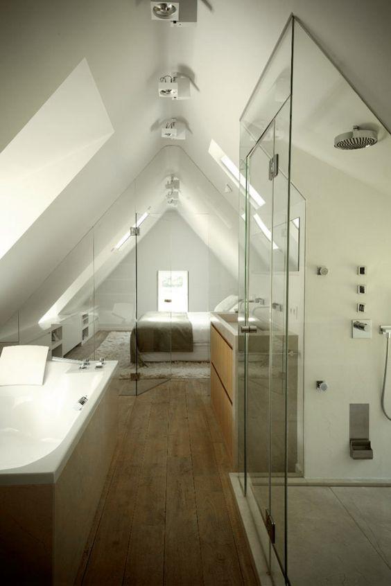 Badkamer aanleggen zolder slaapkamer