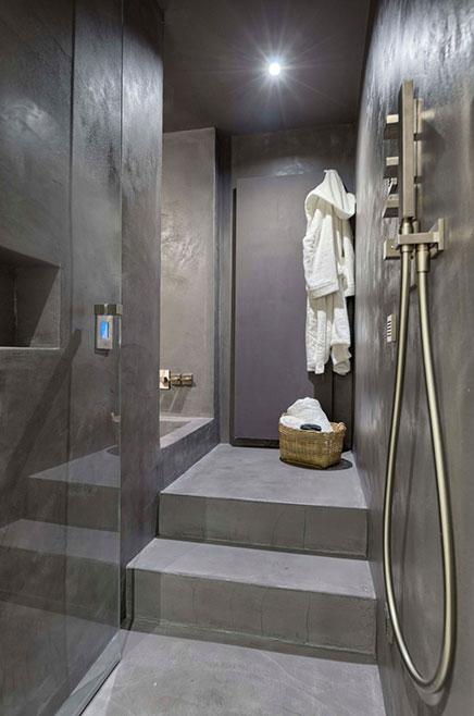 Badkamer met beton, beton cire en hout  Inrichting-huis.com