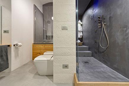 Badkamer Beton Interieur : Badkamer met beton beton cire en hout inrichting huis