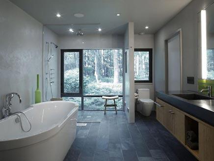 Badkamer in het bos