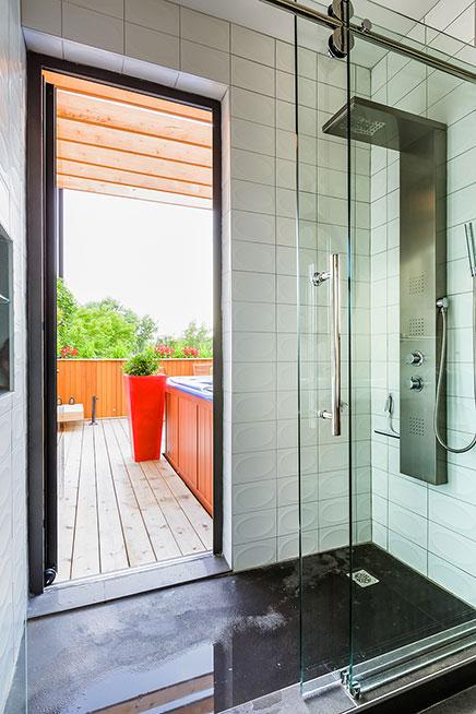 Moderne dakterras inrichting - Ingang huis idee ...