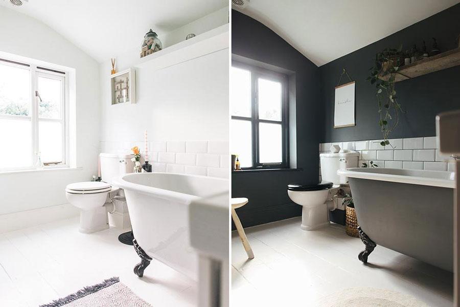 Huis Donker Hout : Badkamer make over: van licht naar donker inrichting huis.com