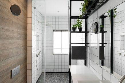 Badkamer ontwerp met chique industrieel tintje