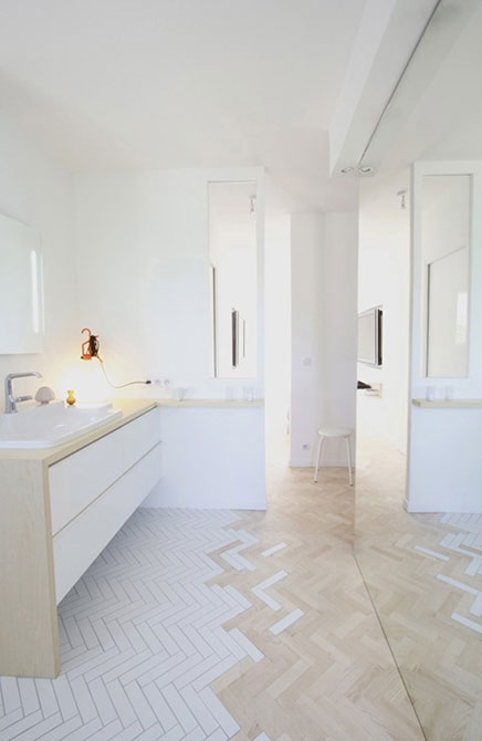 Badkamer ontwerp met een idee inrichting - Winkelruimte met een badkamer ...