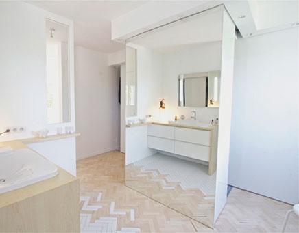 Badkamer ontwerp met een idee inrichting - Idee ouderlijke slaapkamer met badkamer ...