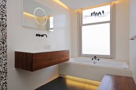 Badkamer ontwerp met luxe materialen