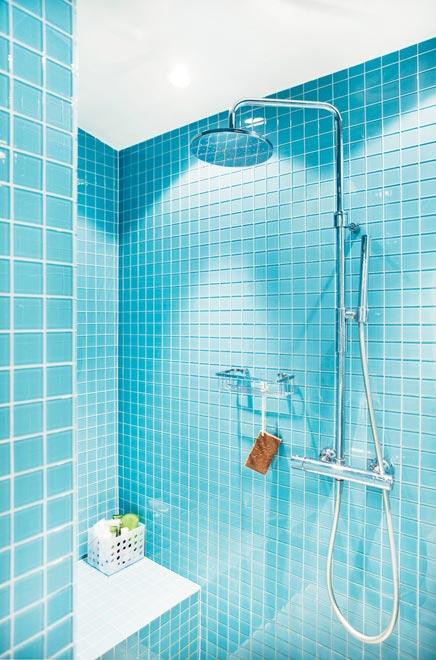 Badkamer met retro gevoel