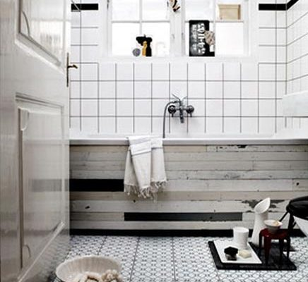 Badkamer met sloophout