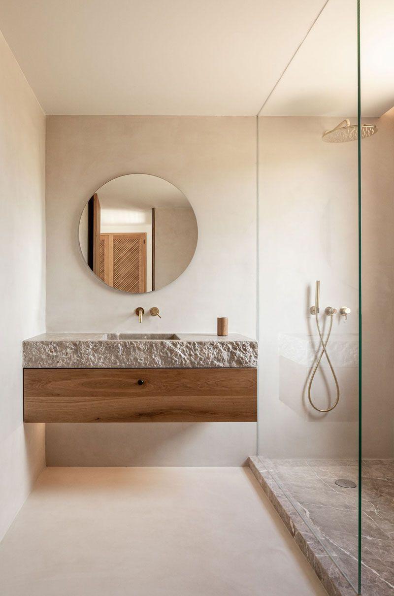 badkamertrends 2021 neutrale kleuren
