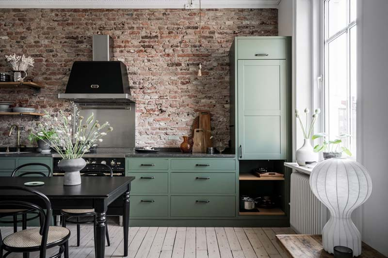 bakstenen keuken achterwand