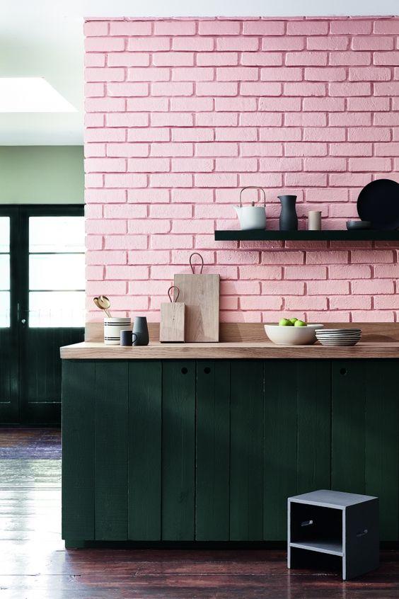 Bakstenen muur inrichting - Chambre style loft industriel ...