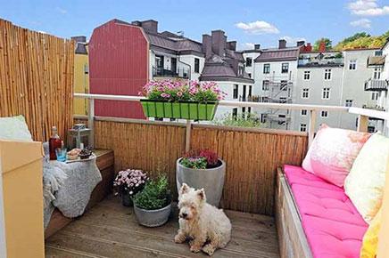 Balkon aan de slaapkamer