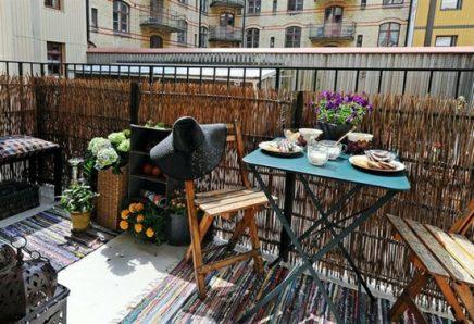 Rieten Balkon Meubels : Balkon afschermen met rieten matten inrichting huis
