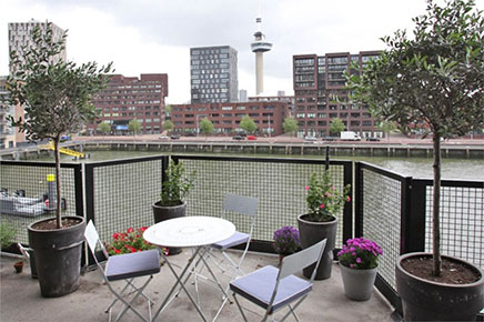 Balkon ideeen van voormalig pakhuis Rotterdam
