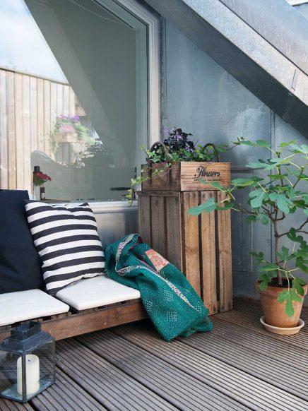 Balkon ingebouwd in dak