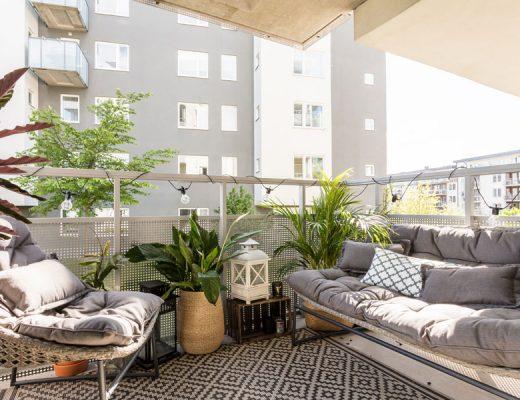 Balkon inspiratie van een klein appartement van 46m2