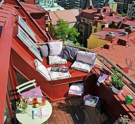 Balkon inspiratie van een zomers Zweeds appartement