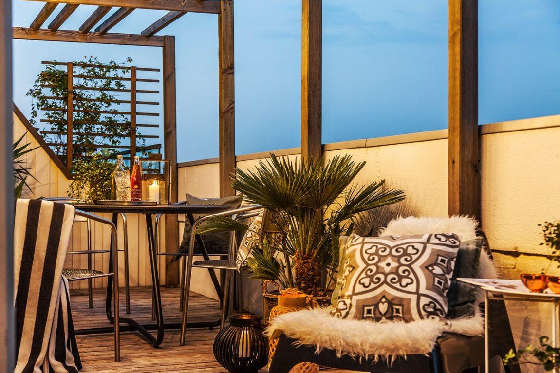 Balkon met jacuzzi!
