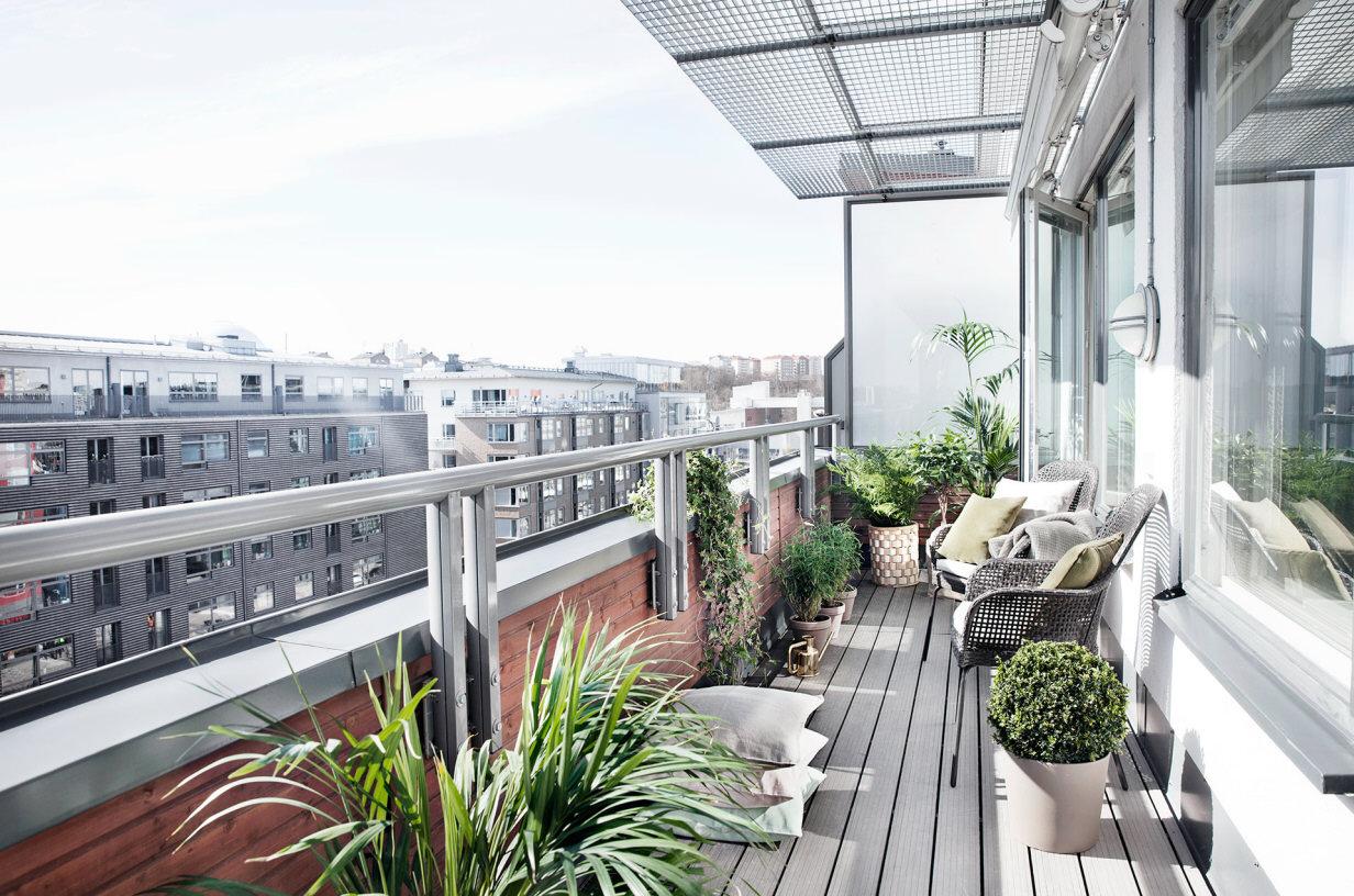 Balkon styling met planten inrichting - Inrichting van het terras ...