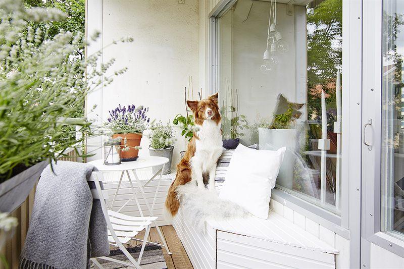 balkon zithoek op maat houten bank