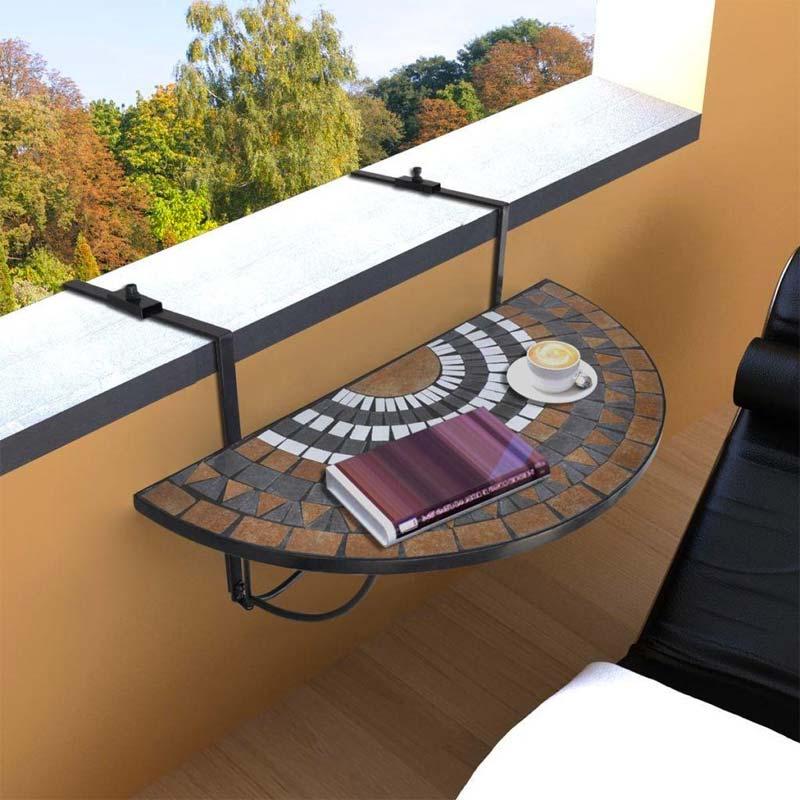 balkonhek tafel vidaxl mozaiek