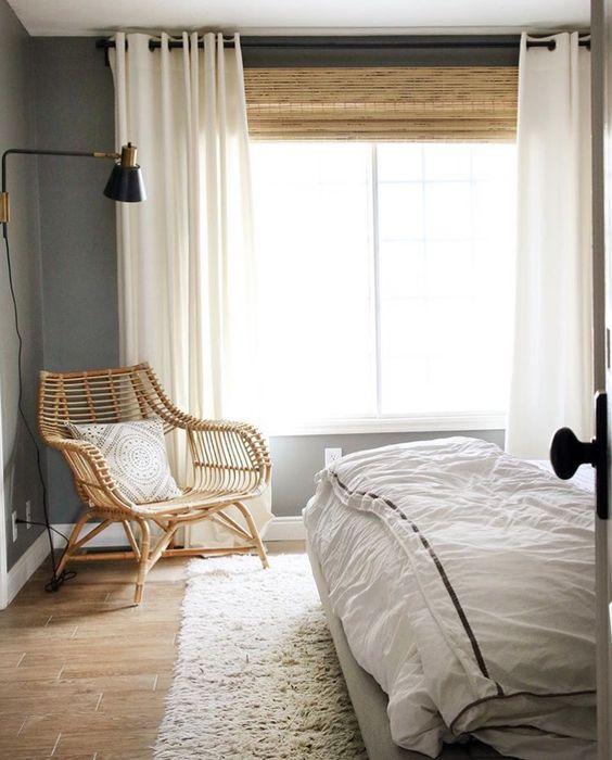 Bamboe raamdecoratie