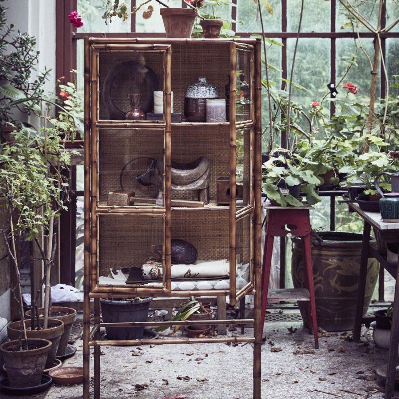 Bamboe vitrinekast van HKliving