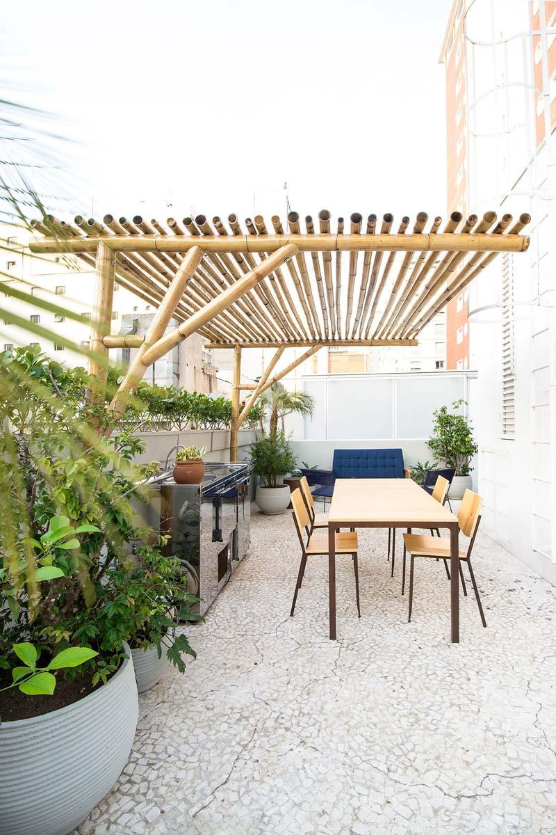 bamboo pergola