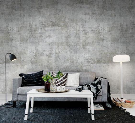 Behang industrieel interieur