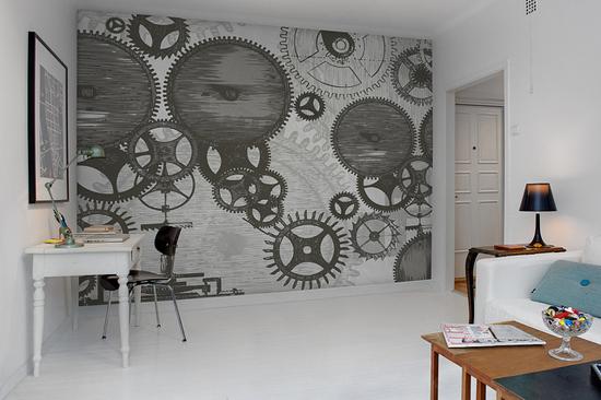 ... Woonkamer ~ Stoere woonkamer e antie in een industriële inrichting