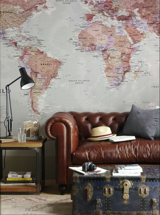 Behang in een vintage interieur