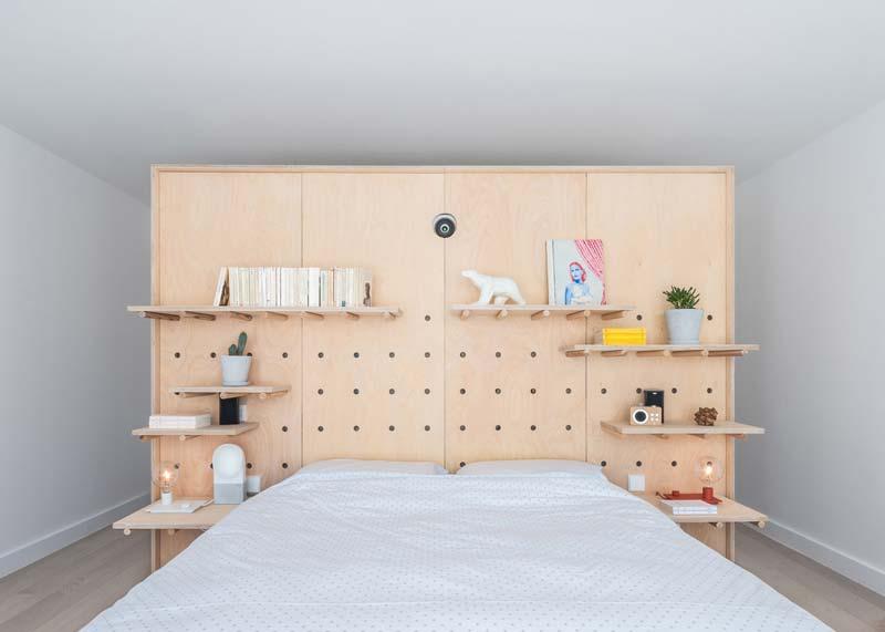 berken multiplex gaatjesboard slaapkamer