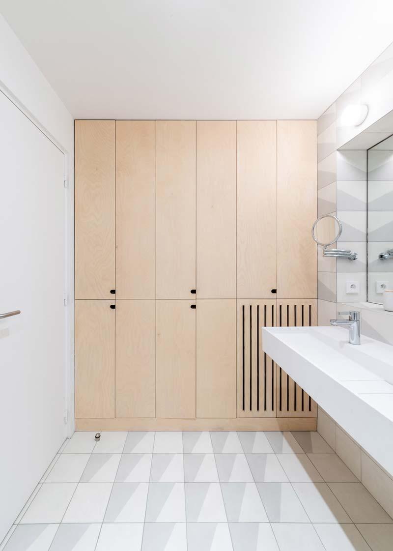 berken multiplex kast badkamer