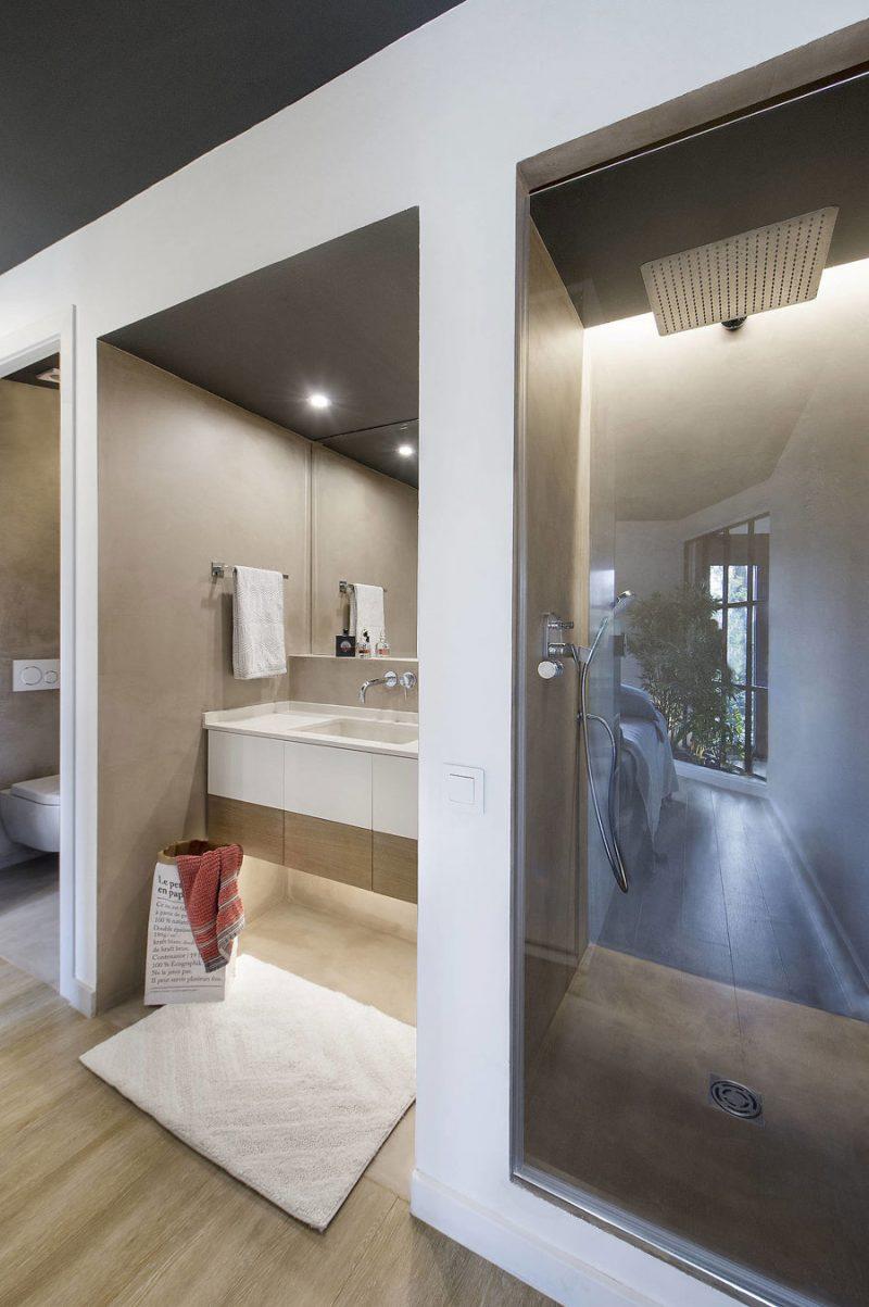 beton cire open badkamer ensuite